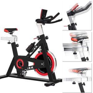 ISE Cardio Vélo Biking Vélo d'Appartement Vélo Spinning avec Programme et l'Ecran LCD