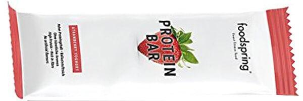 foodspring Protein Bar en paquet de 12, Yaourt Fraise, Une nouvelle recette, pour plus de saveurs, Fabriqué en Allemagne