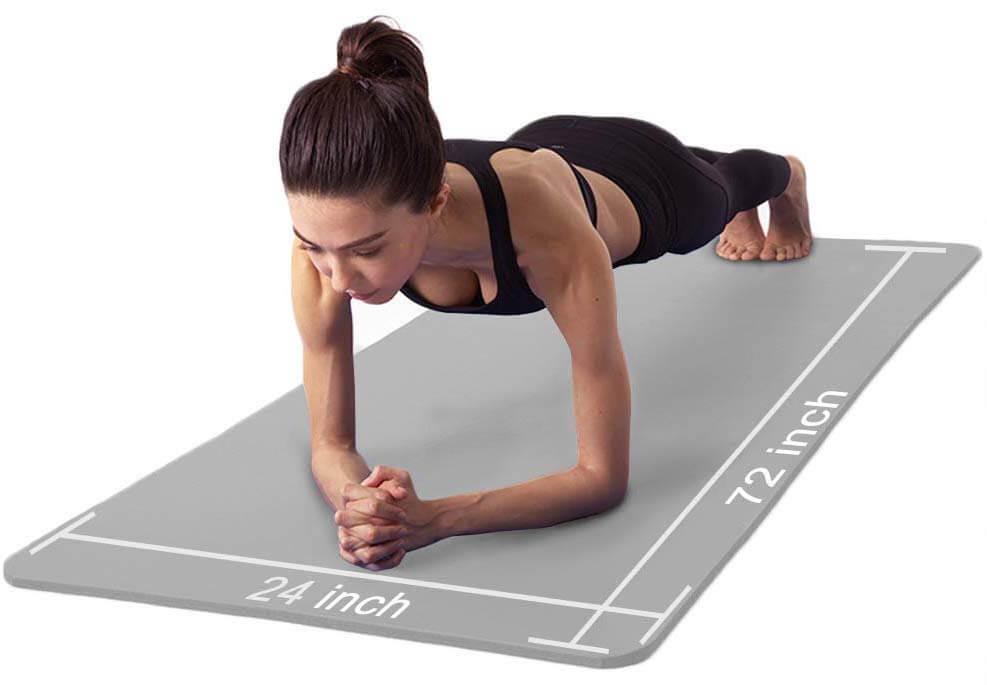 tapis de yoga épais pour femme