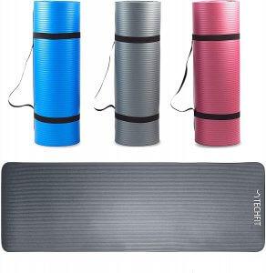 tapis yoga épais couleur