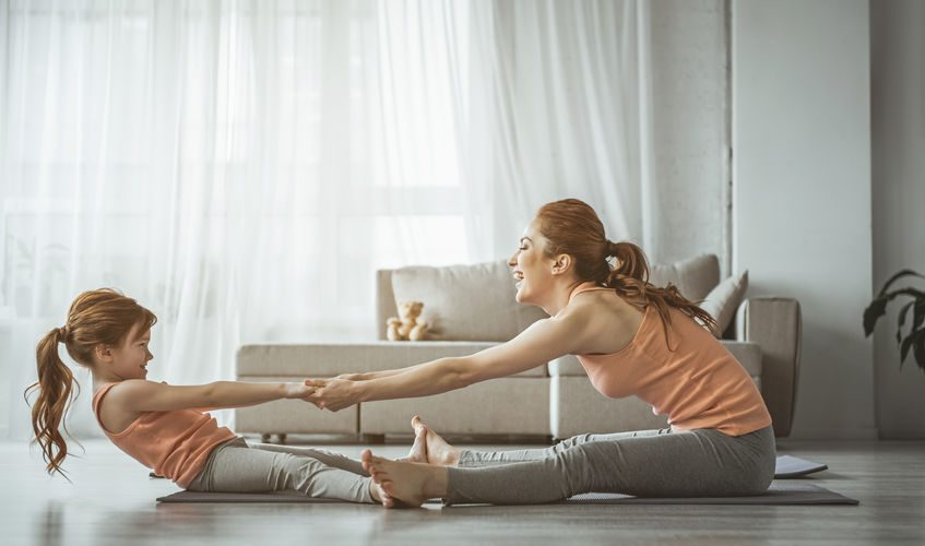 sport à la maison avec enfant