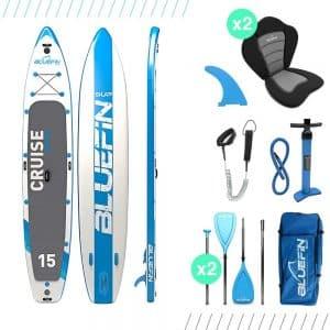 paddle board gonflable Cruise Tandem 15 pouces de Bluefin