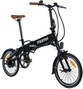 Le vélo électrique pliant MOMA BIKES E-16TEEN