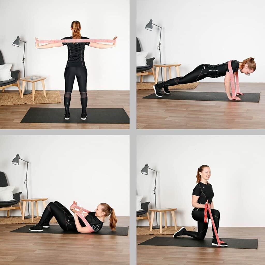 positions élastique fitness